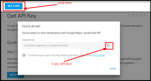 create google map api key
