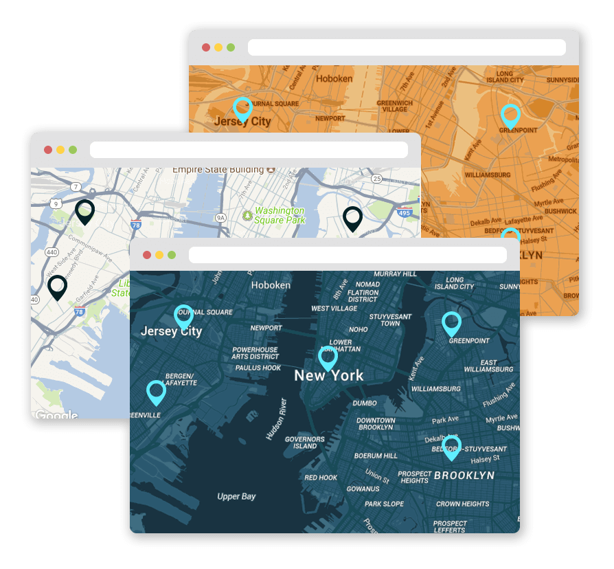 wordpress store locator snazzy map style